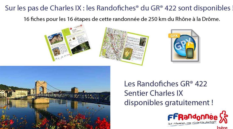 Sur les pas de Charles IX : les Randofiches® du GR® 422 sont disponibles !