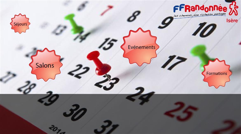 FFRANDONNEE ISERE : LES DATES A RETENIR EN 2018
