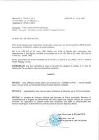 ARRÊTE MUNICIPAL : Secteur Les 2 Alpes