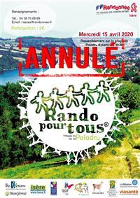 L'évènement Rando pour Tous® des Villages du Lac de Paladru ANNULÉ