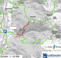 Interruption du GR®738 - Haute Traversée de Belledonne dans le Haut Bréda.